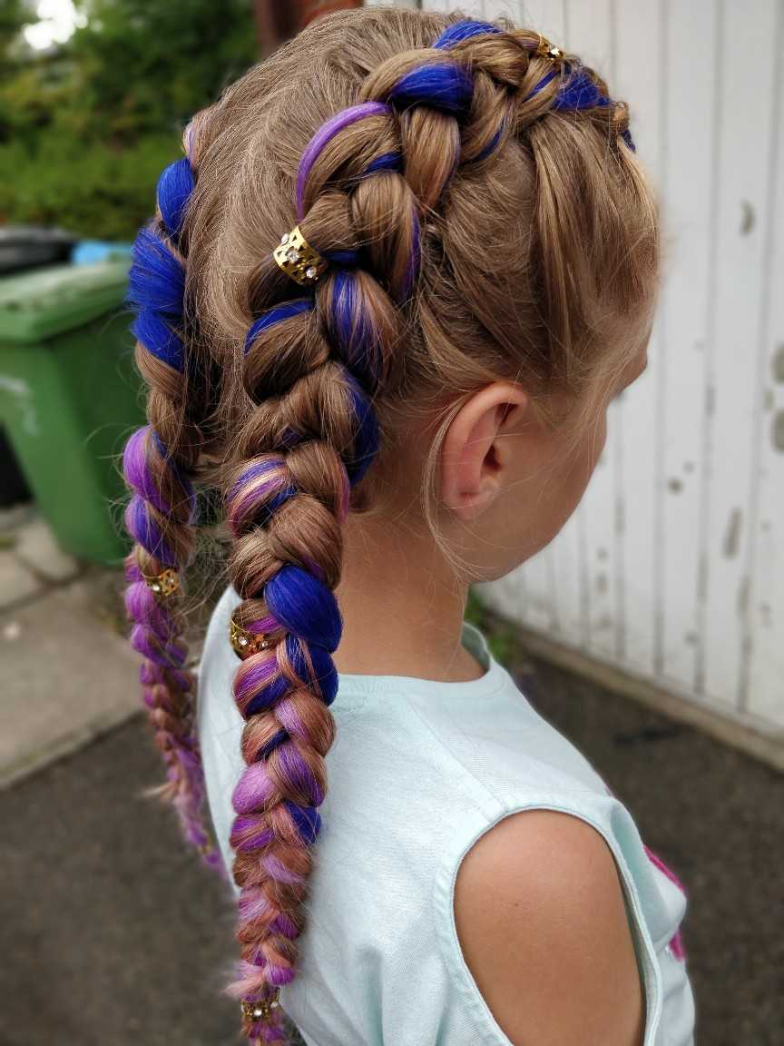 picture showing dutch braids on girl